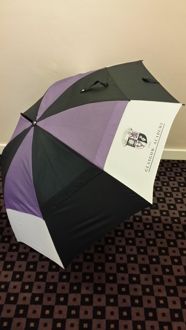 Glasgow Academy golf umbrella - PGA grip