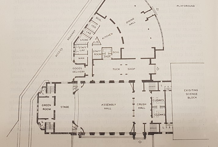 Plan of Cargill Hall and Dining Room by Keppie
